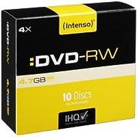 Intenso DVD-RW 4,7GB Rewritable 4x Speed 10er Pack Slimcase