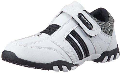 Cokpit Men's White and Black Running Shoes - 10 UK (CTJM 0413)