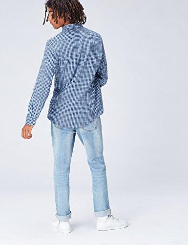 FIND Herren Oxford Hemd Charlie Tailored Fit Blau (Blue)