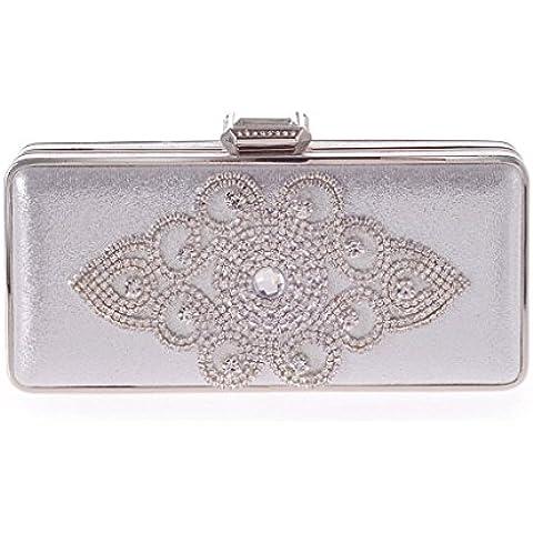 WILLTOP telaio In metallo, con perline a forma di goccia, con chiusura magnetica, stile Vintage, In borsa
