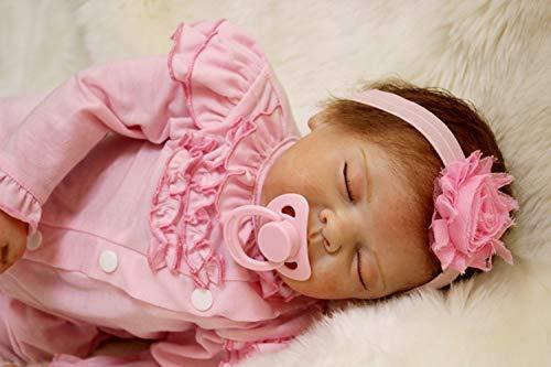 HOOMAI Realiste 22 Pouces 55cm Bébé Reborn Fille Poupée Silicone Vinyle Dormir Bebe Magnetic Nouveau-Né Jouet Cadeau