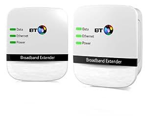 BT Broadband Extender 200 Kit, Powerline Adapters (Twin Pack)