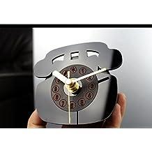 GzxLaY Reloj creativo del refrigerador del estilo antiguo del teléfono (succión directa en el refrigerador)