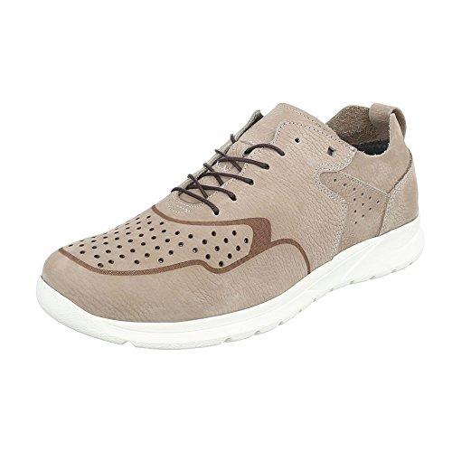 Sapatos Masculinos De Couro Lace Oxford Schnürer Laços De Design Ital Sapatos Baixos Bege