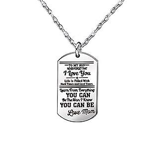 GESCHENKE für Sohn, silber lange Kette Halsketten Edelstahl, Geschenk, Geburtstag Geschenk für Kinder