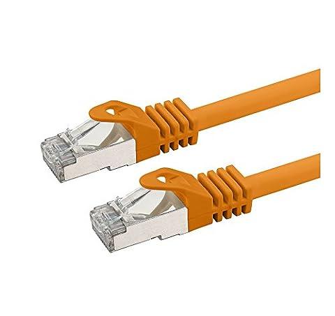 Câble Ethernet, sans halogène 600MHz/100& # x200e; & # x3a9; 4fils de 10paires GBS pour TV en streaming/UHD/IPTV/lecteurs Multimédia/Récepteurs Satellite/Câble réseau serveurs/ordinateurs PC/Super Fast Ethernet avec connecteurs broches Or