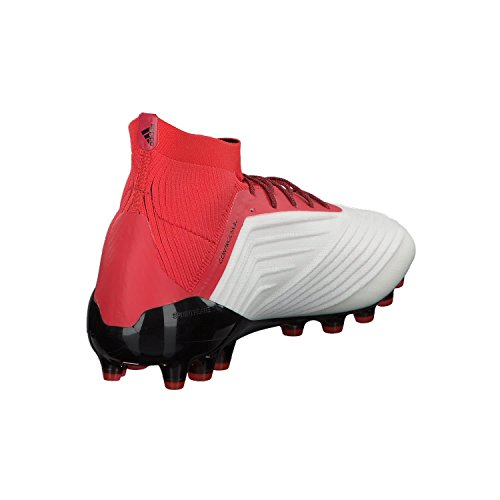 adidas Predator 18.1 AG, Chaussures de Football Homme Blanc (Footwear White/core Black/real Coral)