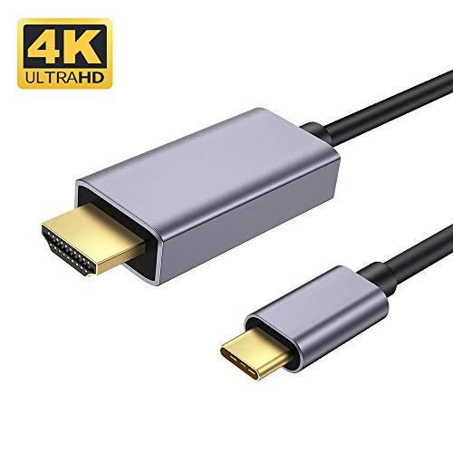 Cavo da USB C a HDMI (4K@60Hz), Hotott Cavo da USB C a HDMI, compatibile per iPad Pro 2018, MacBook Pro2018, Macbook air 2018,Galaxy S10/S10 Plus/S8/S8 Plus,MacBook air 2018,Huawei P30,P20 pro-1.8m
