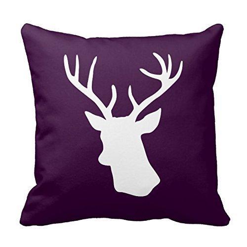ZKHTO White Deer Head Silhouette - Dark Purple Throw Pillowcases,Cover Size:20 x 20 Inch(50cm x (Dark Fairy Halloween Ideen)