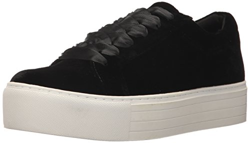 Kenneth Cole New York Women's Abbey Platform Lace Up Sneaker Velvet Fashion, Black, 9 M US