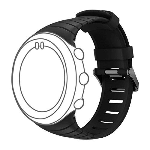 DD Uhrenarmband für Suunto Core, Weiche Silikon Uhr Ersatz Zubehör Handschlaufe für Suunto Core Smart Watch (Suunto Core Black)