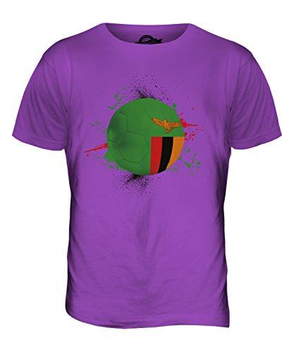 CandyMix Sambia Fußball Herren T Shirt Violett