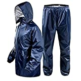 G3E Women' Waterproof Reversible Raincoat with Pant Free Size