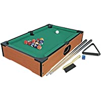 Global Gizmos 50 x 30 cm Deluxe Table Top Pool Game/Snooker Table Game
