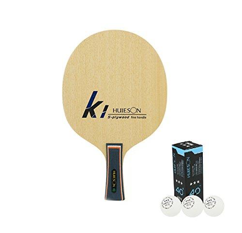 36bd6408c Mesa Tenn hoja 5Ply Abachi raqueta de tenis de mesa de madera para  adolescentes pelotas de