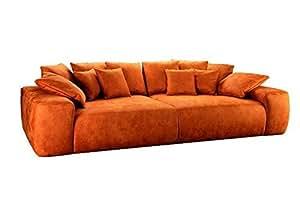 Big sofa ben xXL canapé avec revêtement souple-profondeur de l'assise, couleur :  curry