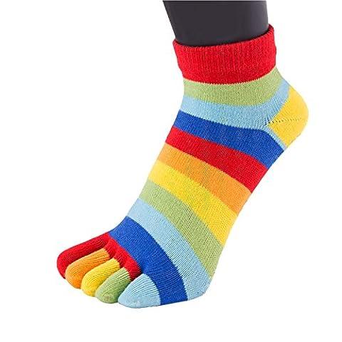 TOETOE - ESSENTIAL - Anklet / Trainer Toe Socks (UK 4-11 | EU 35-46, Rainbow)