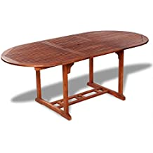Tavoli Rustici Per Esterno.Amazon It Tavoli Da Giardino In Legno