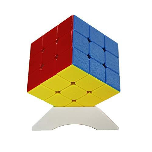 OJIN Shengshou Herr M 3x3 Gem Baoshi Magnetische Geschwindigkeit Magic Cube Brain Teaser Twist Puzzle mit Einem Würfel Stativ (Stickerless) -