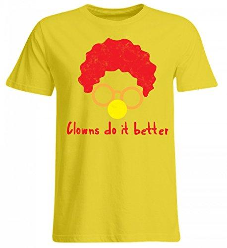 ClassicLounge Hochwertiges Übergrößenshirt - Clown - Zirkus - Geschenk - Karneval - Kostüm - Circus - Gift: Clowns Do It Better (Star Kostüme Ideen)