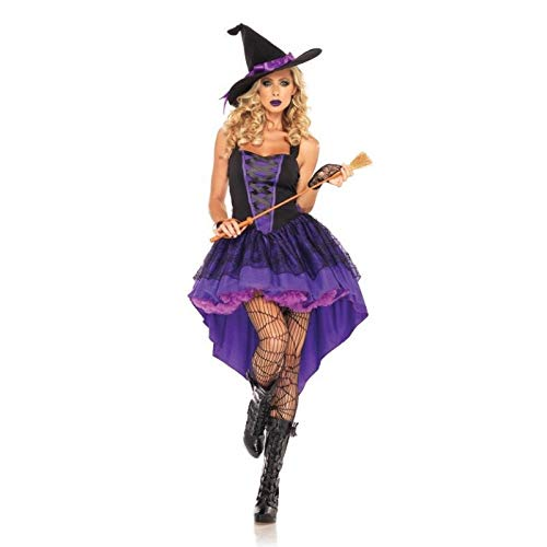Idollcg kostum,Halloween Kostüm Cosplay Kostüm Halloween Hexenkleid Sexy Kostüm Lang Lila Smoking Halloween Weihnachtskostüm Party Dekoration kostum (Color : Purple, Size : (Sexy Smoking Kostüm)