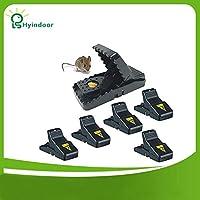 Lepakshi Pest Control 6 Pcs Mouse Trap Reusable Catching Mice Bait Snap Spring R
