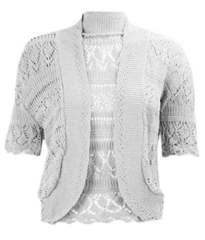 Neue Frauen Plus Größe Bolero Cap Ärmel Bauchfrei mit Crochet