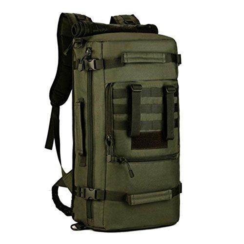 JM-Doppelte outdoor wandern/Reisetaschen Segeltuch wasserdicht und Verschleiß-resistent / 50L Schulter unisex c