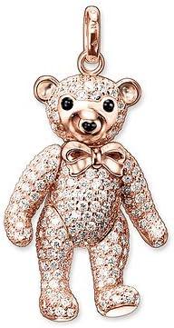 Thomas Sabo colgante oso de peluche rojo oro Gallay pe635–442–14598