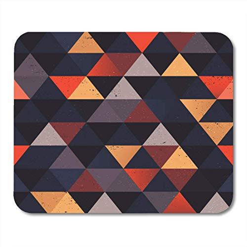 Gaming Mauspad Green Pattern Colorful Abstract Retro Geometric Random Triangle Simple 11.8