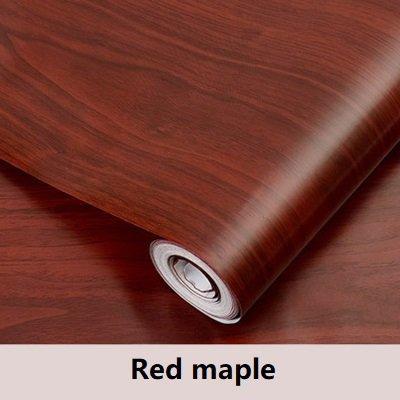 Preisvergleich Produktbild XY399 degrees PVC Vinyl Holzmaserung Kontakt Papier Für Küchenschränke Shelf Liner Kleiderschrank Tür Aufkleber Wasserdicht Selbstklebende Tapete-in Tapeten Von Heimwerker Rot Ahorn 60 cm X 3 mt
