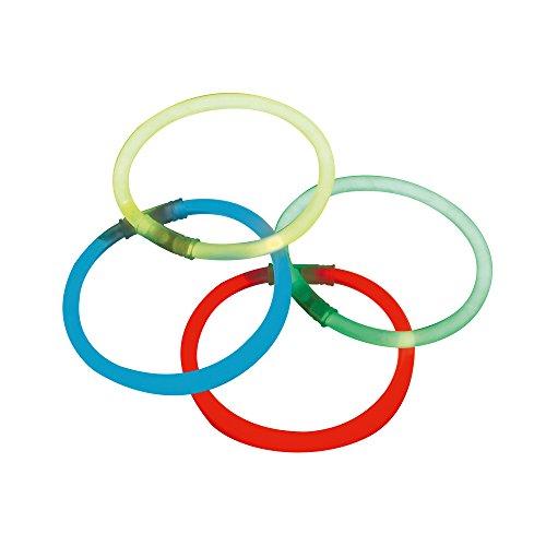 lim 25 Stück, 4 Farben, 20 cm Knicklichter inkl. Verbindungsstücke, bis zu 24 Std. Leuchtzeit,  (Blau/Grün/Gelb/Rot) ()