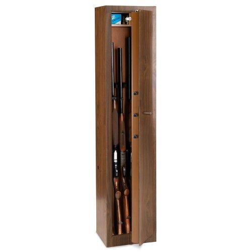 Gewehrschrank in Stahl Technomax TLS/7mit Finish in Holz und Tesoretto 1500x 365...