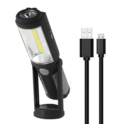 PROZOR Proster LED Arbeitsleuchte inspektionsleuchten wiederaufladbare LED Taschenlampe mit COB Arbeitsleuchte mit magnetischer Basis f¨¹r Autoreparatur Camping Wandern Notf?lle