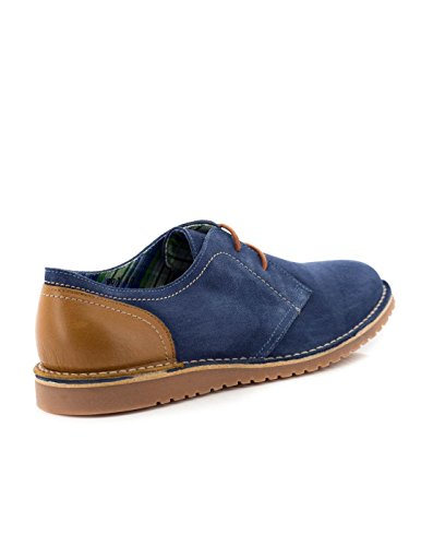 Chaussure El Corzo 907 Blue Suede Leather Bleu