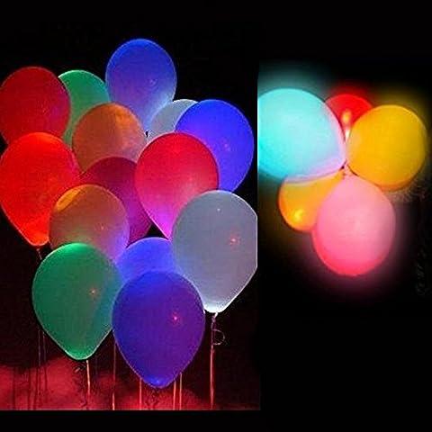15 LED leuchtende Luftballons Bunt schöne Ballons Blinkendes Licht von COLLEER für die Party, Geburtstag, Hochzeit, Festival (15