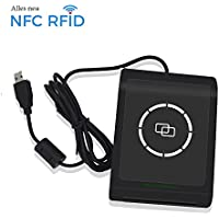 NFC RFID Smart Card Reader Writer Copier Duplicator Beschreibbare Klon Software USB mifare 13,56 MHz ISO/IEC18092+ 2 M1 Karten + 2 4442 Karten + 2NTAG213 Tags