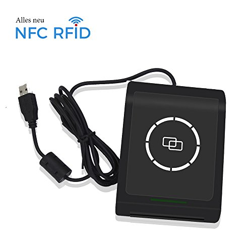 NFC RFID Smart Card Reader Writer Copier Duplicator Beschreibbare Klon Software USB mifare 13,56 MHz ISO/IEC18092+ 2 M1 Karten + 2 4442 Karten + 2NTAG213 Tags