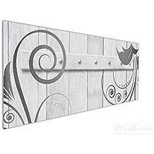 Wallario Küchen Rückwand | Glas Mit Motiv Graue Holztür Mit Schnörkelmuster  In Premium Qualität