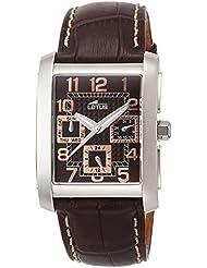 Lotus 15387/R - Reloj analógico de cuarzo para hombre con correa de piel, color marrón