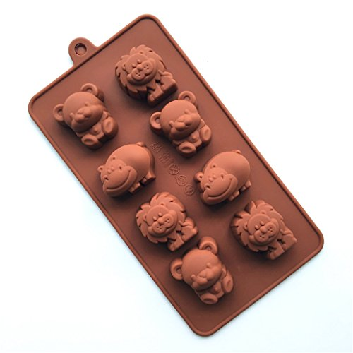 FantasyDay® 8er Silikon Backform / Muffinform für Muffins, Cupcakes, Kuchen, Pudding, Eiswürfel und Gelee - Niedlichen Tiere