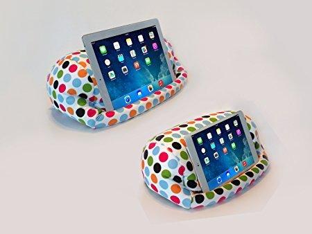 LAP Pro-Mini, Universal Beanbag Schoßständer für iPad Mini 1,2,3,4, iPad Air, iPad 1, iPad 2, iPad 3, iPad 4, Galaxy, Xoom, Acer, Nexus 7und alle Android-Tablets, Reader, Bücher & Zeitschriften-Bett, Couch, Reisen-Winkel einstellbar; 0-89°. (Polkadot) -