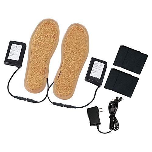 liuxi Beheizte Einlegesohle, USB Wiederaufladbare beheizte Schuhe Einlegesohlen Thermische Boot Warmer für die Jagd Angeln Wandern Camping (Batterie im Lieferumfang enthalten)