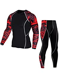 Zarup♥♥♥Hombre Entrenamiento Leggings Fitness Sports Gym Running Yoga Athletic Pantalones + Traje de camisa