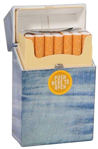 2 pcs. cigarette box case | jeans look | plastic | each for 19 cigarettes (Denim Champ)