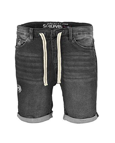 Sublevel -  Pantaloncini  - Uomo Black Denim 36