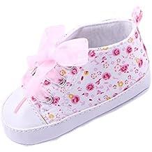 Transer® Moda Bebe Zapatos de suela suave floral infantil Baby First Walker Toddler Shoes