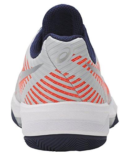 Asics Volley Elite Ff, Scarpe da Pallavolo Donna Multicolore (Flash Coral/Glacier Grey/Indigo Blue)
