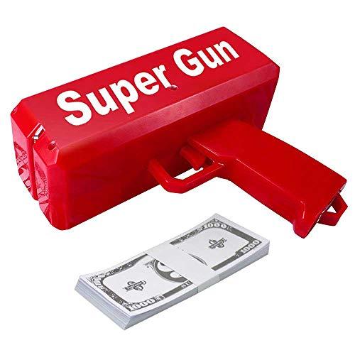 Umiwe Geld Pistole Spielzeug Pistole & Geldpistole Money Gun,Spritzpistole Spucken Geld Kanone Spray Party Streich Geschenk für Kinder und Erwachsene Neuheit Artikel