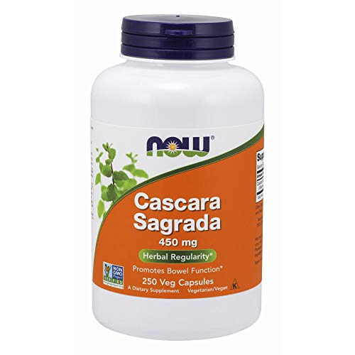 Now Foods Cascara Sagrada 450mg, 250 Vcaps